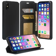 SumacLife Black Wallet Leather Case For iPhone X (APLLEA801)