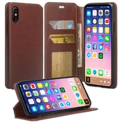 SumacLife Brown Wallet Leather Case For iPhone X (APLLEA802)