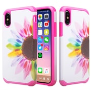 SumacLife Pink Sunflower Slim Back Cover Dual Layer For iPhone X (APLCRC846)