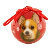 CueCuePet Christmas Tree Ornaments Red Ball, Dog Collection Chihuahua (ORNDOG004)