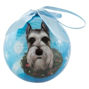 CueCuePet Christmas Tree Ornaments Blue Ball, Dog Collection Schnauzer (ORNDOG013)