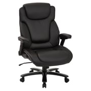 Pro-Line II Big & Tall Deluxe High Back Black Bonded Leather Executive Chair with Padded Flip Arms (39200)