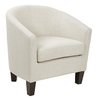 Ethan Linen Fabric Tub Chair with Dark Espresso Wood Legs (ETN-L38)