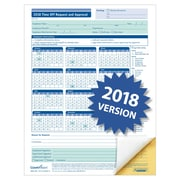 """ComplyRight 2018 Time Off Request and Approval Form, 8-1/2"""" x 11"""", 2-Part, Pack of 50 (A0030)"""