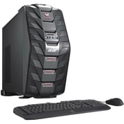 Acer Predator G3710UR11 Core i5 7400, 1TB HDD, 128GB SSD, 12GB, WIN 10 Home, NVIDIA GTX1060 Gaming Desktop Computer by