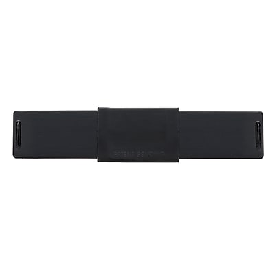"C-SLIDE Webcam Cover 2.0 Black Plastic, 1.5mm thin, 2.38"" wide x .57"" tall, universal fit for most laptops (2.0BLKST)"