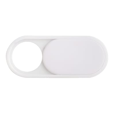 "C-SLIDE Webcam Cover Channel Tablet Plastic White, 1mm thin, .93"" wide x .39"" tall, universal fit for all tablets iPad & Samsung"