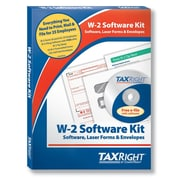 TaxRight W2 with self-seal envelopes and software with 5 free EFILE, 6-Part for 25 Employees (SC5650ES25)