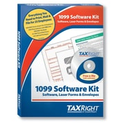 TaxRight 1099 Misc. with self-seal envelopes and software with 5 Free EFILE, 4-Part for 25 Recipients (SC6103ES25)