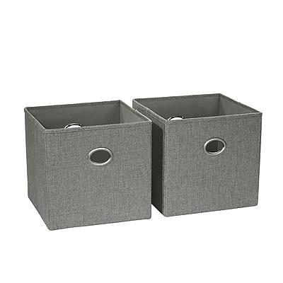 RiverRidge 2 Piece Folding Storage Bin, Gray