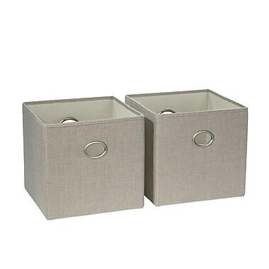 RiverRidge 2 Piece Folding Storage Bin, Beige