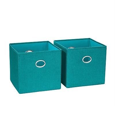 RiverRidge 2 Piece Folding Storage Bin, Turquoise