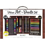 Art 101 Deluxe Art and Doodle Art Set, Assorted Colors, 168 Pieces (53168)