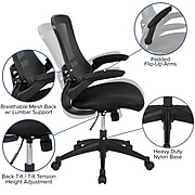 Flash Furniture Mesh Task Chair, Black (BL-X-5M-BK-GG)