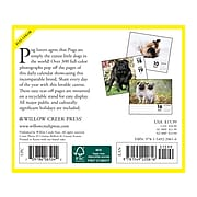 """2021 Willow Creek Just Pugs 5.43"""" x 6.18"""" Day-to-Day Calendar (20616)"""