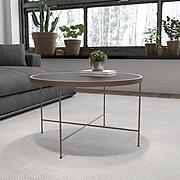 Flash Furniture Chelsea Collection Coffee Table, Black/Matte Gold (NANJN21751CT)