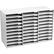 Adir Office Classroom File Organizer, White, 30 Slots (501-30-WHI)