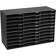 AdirOffice Classroom File Organizer, Black, 30 Slots (501-30-BLK)