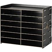 AdirOffice Wood 12 Compartment Paper Literature Organizer Sorter, Black (503-12-BLK)