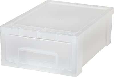 IRIS® Desktop Stacking Drawer, Small, Clear (150060)