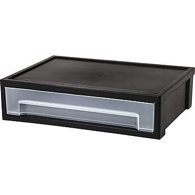 IRIS® Desktop Letter Size Stacking Drawer, Black (150095)