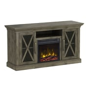 "ClassicFlame Cottage Grove TV Stand for TVs up to 60"" with Electric Fireplace, Spanish Gray (18MM6075-PI14S)"
