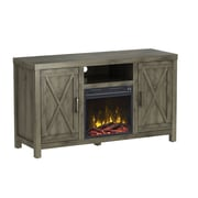 "ClassicFlame Humboldt TV Stand for TVs up to 55"" with Electric Fireplace, Spanish Gray (18MM6076-PI14S)"