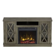 "ClassicFlame Bayport TV Stand for TVs up to 55"" with Electric Fireplace, Spanish Gray (18MM6092-PI14S)"