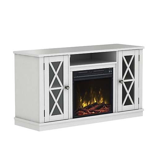 classicflame bayport tv stand for tvs up to 55 with electric fireplace white 18mm6092 pt85s. Black Bedroom Furniture Sets. Home Design Ideas