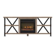"ClassicFlame Irondale TV Stand for TVs up to 65"" with Electric Fireplace, Autumn Driftwood (18MM6096-PD04S)"