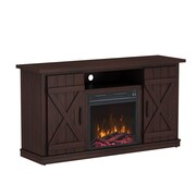 "ClassicFlame Cottonwood TV Stand for TVs up to 55"" with Electric Fireplace, Saw Cut Espresso (18MM6127-PD01S)"