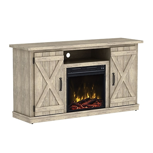 classicflame cottonwood tv stand for tvs up to 55 with electric fireplace ashland pine. Black Bedroom Furniture Sets. Home Design Ideas