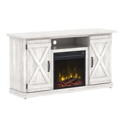 "ClassicFlame Cottonwood TV Stand for TVs up to 55"" with Electric Fireplace, White (18MM6127-PO101S)"