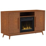 """ClassicFlame Leawood TV Stand for TVs up to 60"""" with Electric Fireplace, Mahogany Cherry (18MM6166-M333S)"""