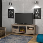"""ClassicFlame Towson TV Stand for TVs up to 70"""" with Electric Fireplace, Minden Oak (18MM6412-PO93S)"""
