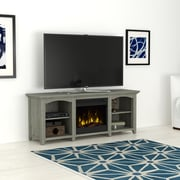 """ClassicFlame Beau Ridge V Stand for TVs up to 60"""" with Electric Fireplace, Gray Oak (18MM71025-PO81S)"""