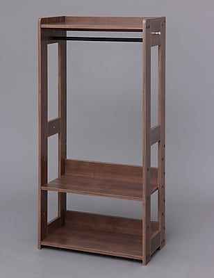 IRIS® Compact Wood Garment Rack, Brown (596286)
