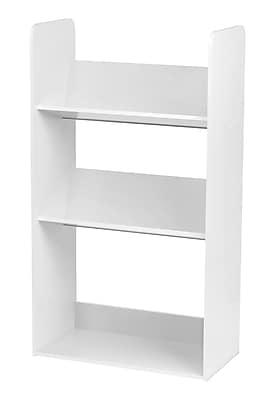 IRIS® 3-Tier Tilted Shelf Book Rack, White (596102)