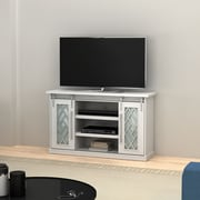"""Bell'O Dawson Brook TV Stand for TVs up to 60"""", White (TC54-6422-PT01)"""