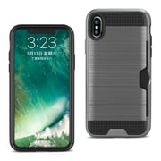 iPhone X Slim Armor Hybrid Case With Card Holder, Gray (SPWC01-IPH8GY)