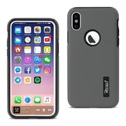 iPhone X Solid Armor Dual Layer Protective Case, Gray (SLCRPC01-IPH8GY)