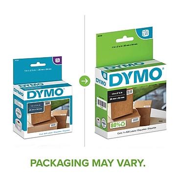 "Dymo LabelWriter Multi-Purpose 30336 Label Printer Labels, 1""W, Black On White, 500/Box"