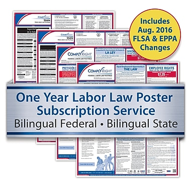 ComplyRight™ One-Year Federal and State Poster Service, Maryland, Bilingual Federal and State Posters (U1200CBAMD)