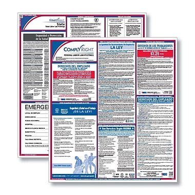 ComplyRight™ All-Inclusive Federal and State Labor Law Poster Set, Indiana, Spanish (E50INS)