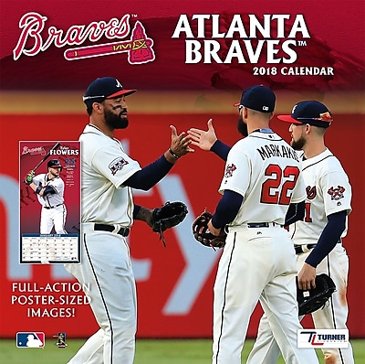 """""Atlanta Braves 2018 12"""""""" x 12"""""""" Team Wall Calendar (18998011841)"""""" 24207861"