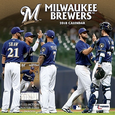 Milwaukee Brewers 2018 12X12 Team Wall Calendar (18998011854) 24206040