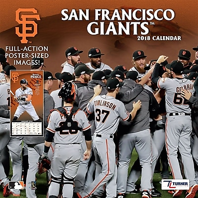 """""San Francisco Giants 2018 12"""""""" x 12"""""""" Team Wall Calendar (18998011862)"""""" 24207871"