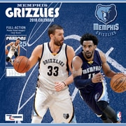 "Memphis Grizzlies 2018 12"" x 12"" Team Wall Calendar (18998011883)"