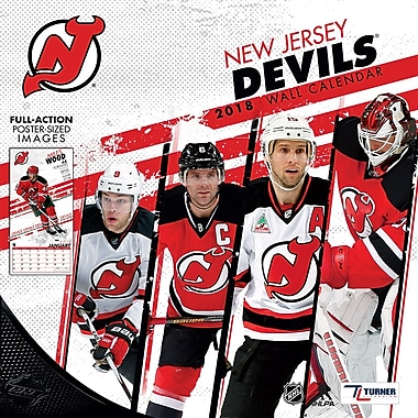 New Jersey Devils 2018 12X12 Team Wall Calendar (18998011947)