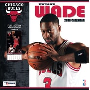 "Chicago Bulls Dwayne Wade 2018 12"" x 12"" Player Wall Calendar (18998012081)"